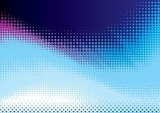 Blauwe halftone achtergrond Stock Fotografie