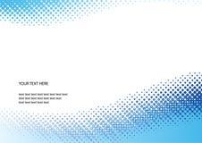 Blauwe halftone achtergrond Stock Afbeeldingen