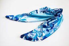 Blauwe halsdoek op wit royalty-vrije stock foto