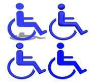 Blauwe Handicappictogrammen Stock Afbeelding