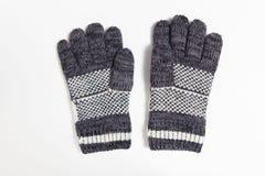 Blauwe handschoen van de winter stock afbeelding
