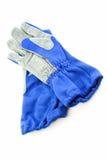 Blauwe handschoenen royalty-vrije stock afbeelding