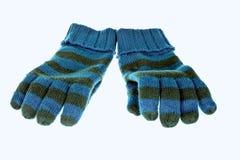 Blauwe handschoenen stock afbeeldingen