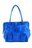 Blauwe handtas Royalty-vrije Stock Foto's