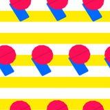 Blauwe hangmat met roze paraplu vector illustratie