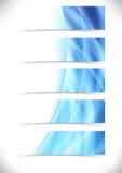 Blauwe heldere footer van de het Webkopbal van de gloedgolf reeks Royalty-vrije Stock Fotografie