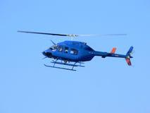 Blauwe helikopter royalty-vrije stock afbeelding