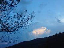 Blauwe hemel Stock Foto