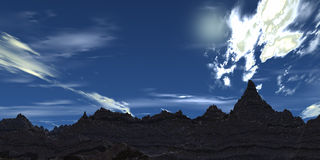 Blauwe hemel royalty-vrije illustratie