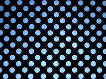 Blauwe hemel achter patroon van cirkels Royalty-vrije Stock Fotografie