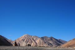 blauwe hemel bij panggongmeer Stock Fotografie