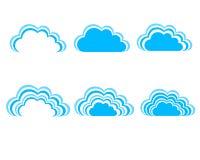 Blauwe hemel, blauwe wolken Stock Afbeelding