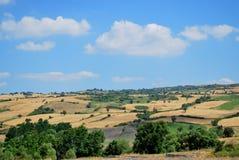 Blauwe hemel in Egeïsch stock foto