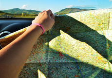Blauwe hemel en auto Royalty-vrije Stock Afbeelding