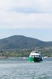 Blauwe Hemel en boot Royalty-vrije Stock Afbeeldingen