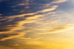 Blauwe hemel en cirruswolk Stock Foto's