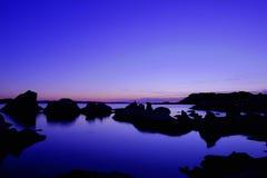 Blauwe Hemel en Overzees Stock Foto