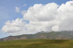 Blauwe hemel en prairie Royalty-vrije Stock Fotografie