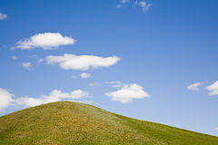 blauwe hemel en weide Royalty-vrije Stock Afbeelding
