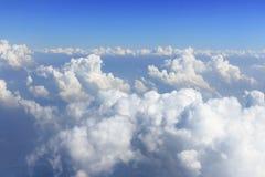 Blauwe hemel en witte wolk vector illustratie