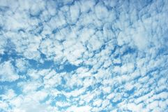 Blauwe hemel en wolk Stock Fotografie