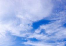 Blauwe hemel en wolk Zo mooie Naure Stock Afbeelding
