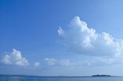 De blauwe achtergrond van de hemeltextuur Royalty-vrije Stock Foto's