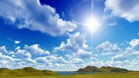 Blauwe hemel met cloudscape stock videobeelden
