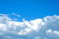 Blauwe hemel met clounds Stock Fotografie