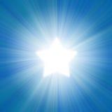 Blauwe hemel met een gloed royalty-vrije illustratie