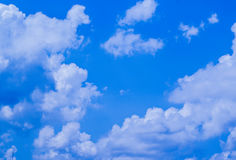 Blauwe hemel met wolk Stock Fotografie