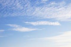 Blauwe hemel met wolk Royalty-vrije Stock Fotografie