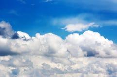 Blauwe hemel met wolk Royalty-vrije Stock Foto's
