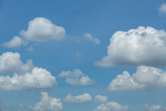 Blauwe hemel met wolk, blauwe hemel Royalty-vrije Stock Fotografie