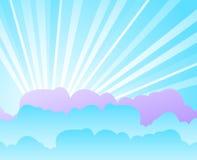 Blauwe hemel met wolken stock illustratie