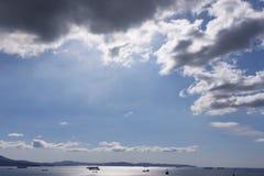 Blauwe hemel met wolken 16 Stock Foto