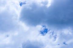Blauwe hemel met wolkenachtergrond Royalty-vrije Stock Fotografie