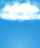 Blauwe hemel Realistisch Onduidelijk beeldontwerp Abstracte glanzende achtergrond Royalty-vrije Stock Foto
