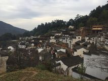blauwe hemel van Chinese oude stad Royalty-vrije Stock Fotografie