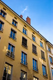 Blauwe hemel in vensters Royalty-vrije Stock Fotografie