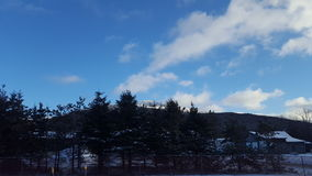 Blauwe Hemel in Vermont Stock Foto's
