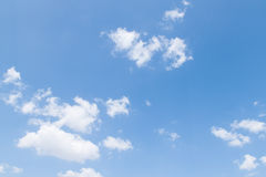 Blauwe hemel witte wolken Royalty-vrije Stock Afbeelding