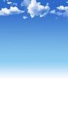 Blauwe hemelachtergrond Stock Fotografie