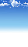 Blauwe hemelachtergrond stock illustratie