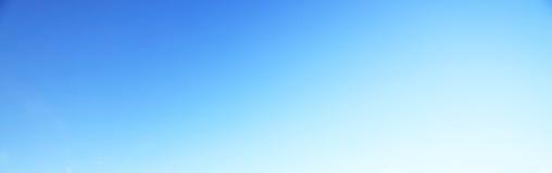 Blauwe hemelachtergrond geen wolk Royalty-vrije Stock Afbeeldingen