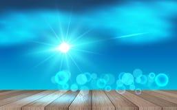 Blauwe hemelachtergrond vector illustratie