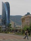 Blauwe Hemeltoren in het centrum van Ulaanbaatar Stock Foto