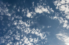 Blauwe hemelwolken Royalty-vrije Stock Foto's