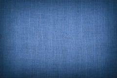 Blauwe het canvasachtergrond van de jutejute met schaduw Royalty-vrije Stock Afbeelding