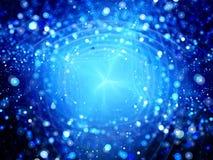 Blauwe het gloeien explosie van nieuwe technologie Royalty-vrije Stock Afbeelding